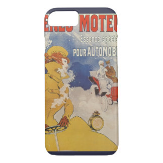 Vintage Art Nouveau, Woman Antique Convertible Car iPhone 7 Case