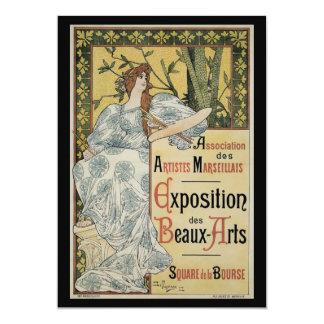 Vintage Art Nouveau, Woman Artist with Palette 13 Cm X 18 Cm Invitation Card
