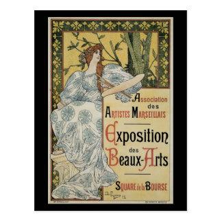 Vintage Art Nouveau, Woman Artist with Palette Postcard