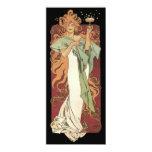 Vintage Art Nouveau, Woman Champagne Party 10 Cm X 24 Cm Invitation Card