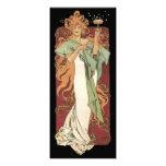 Vintage Art Nouveau, Woman Champagne Party Invites