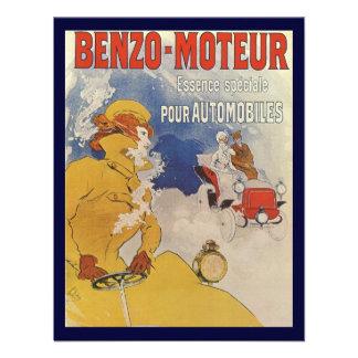 Vintage Art Nouveau Woman Driving Convertible Car Personalized Announcement