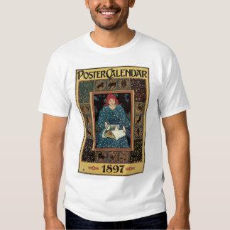 Vintage Art Nouveau, Woman Reading Astrology Book Shirts
