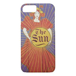 Vintage Art Nouveau, Woman with New York Sun iPhone 7 Case