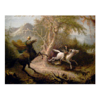 Vintage Art of Sleepy Hollow Postcard