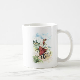 Vintage Art / Old Fashioned Bicycle - Switzerland Coffee Mug