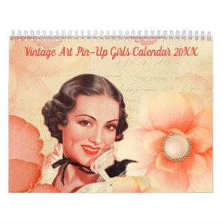 Vintage Art Pin-Up Girls Calendar 20XX