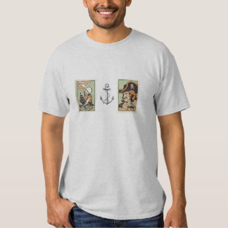 Vintage Art Pirate, Ship and Anchor t-shirt