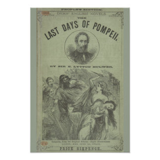 "Vintage Art Poster ""The Last Days of Pompeii"""