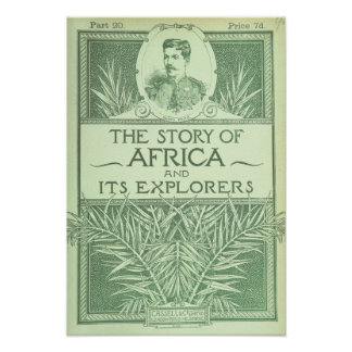 """Vintage Art Poster """"The Story of Africa"""""""