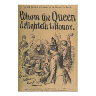 "Vintage Art Poster ""Whom the Queen Delighteth..."""