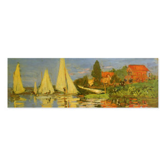 Vintage Art, Regatta at Argenteuil by Claude Monet Pack Of Skinny Business Cards