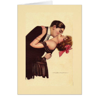 Vintage Art ~ Romantic Enraptured Couple Card