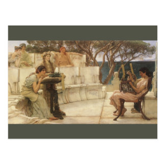 Vintage Art, Sappho and Alcaeus by Alma Tadema Postcard