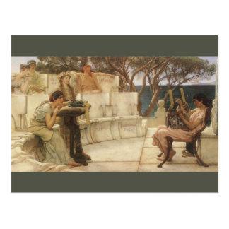 Vintage Art, Sappho and Alcaeus by Alma Tadema Postcard