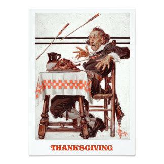 Vintage Art Thanksgiving Dinner Invitation