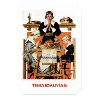 Vintage Art Thanksgiving Dinner Invitations