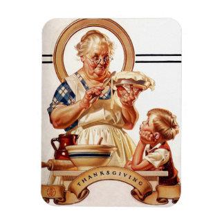 Vintage Art Thanksgiving Gift Magnets