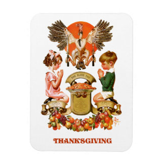 Vintage Art Thanksgiving Gift Magnets