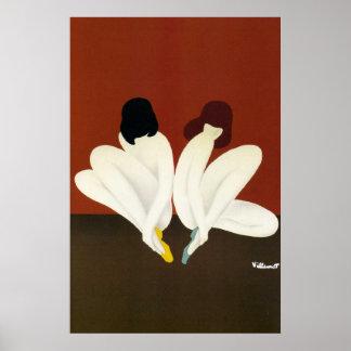 Vintage Art Villemot/ Bally Lotus Poster Print