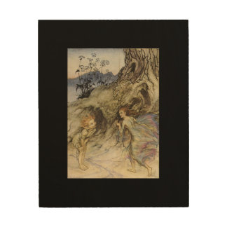Vintage Arthur Rackham Print   Puck and a Fairy