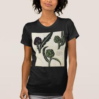Vintage Artichoke Botanical Print T-Shirt