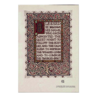Vintage Arts And Crafts Style Illuminated Text Poster