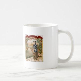 Vintage Asian Chinese Woman Advertisement Coffee Mug