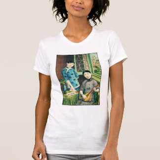 Vintage Asian Chinese Women Advertisement T-Shirt