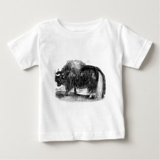 Vintage Asian Yak Retro Yaks Animal Illustration Baby T-Shirt