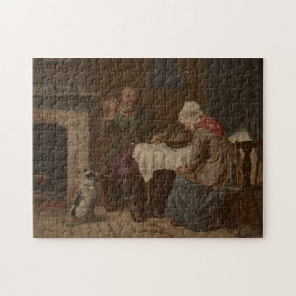Vintage Asking a Blessing Lithograph Jigsaw Puzzle
