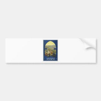 Vintage Assisi Travel Bumper Sticker
