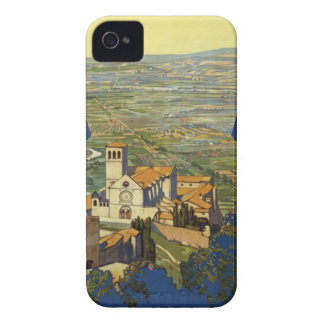 Vintage Assisi Travel iPhone 4 Case-Mate Case