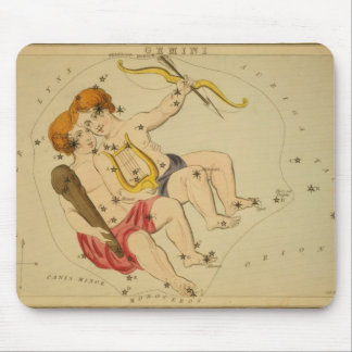 Vintage Astrology / Astronomy Gemini constellation Mouse Pad