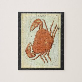 Vintage Astrology Cancer Crab Constellation Zodiac Jigsaw Puzzle