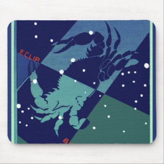 Vintage Astrology Cancer Crab Constellation Zodiac Mouse Pad