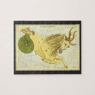 Vintage Astrology Capricorn Constellation Zodiac Jigsaw Puzzle