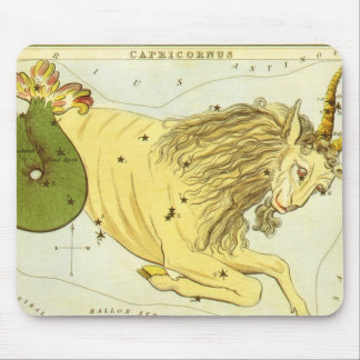 Vintage Astrology Capricorn Constellation Zodiac Mousepad