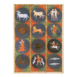 Vintage Astrology, Celestial Zodiac Chart, 1475 Announcements