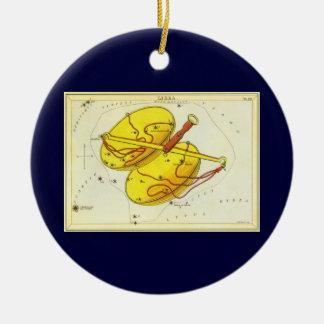Vintage Astrology Libra Scale Constellation Zodiac Christmas Ornaments