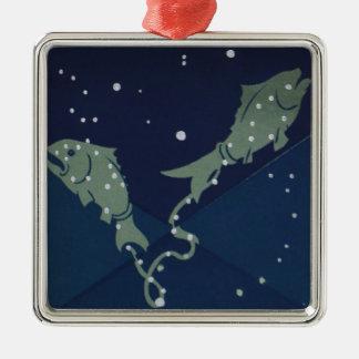 Vintage Astrology Pisces Fish Constellation Zodiac Ornament