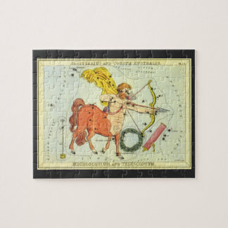 Vintage Astrology Sagittarius Constellation Zodiac Jigsaw Puzzle