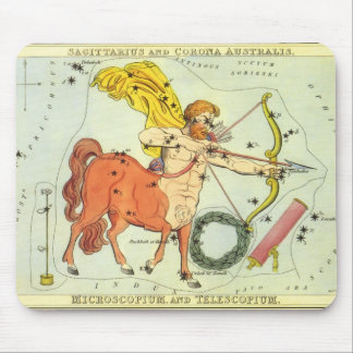 Vintage Astrology Sagittarius Constellation Zodiac Mouse Pad