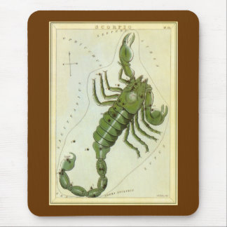 Vintage Astrology Scorpio Constellation Zodiac Mousepads