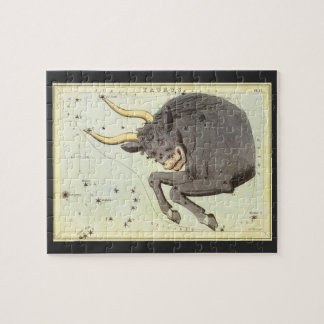 Vintage Astrology Taurus Bull Constellation Zodiac Jigsaw Puzzle