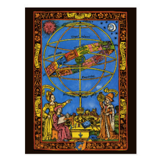 Vintage Astronomer Claudius Ptolemy Celestial Post Card