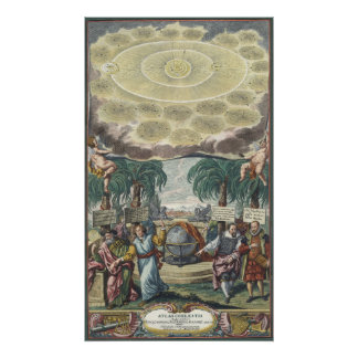 Vintage Astronomy, Celestial, Atlas by Doppelmaier Print