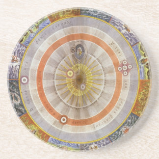 Vintage Astronomy Celestial Copernican Planisphere Beverage Coasters
