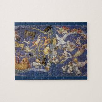 Vintage Astronomy Celestial Fresco, Constellations Jigsaw Puzzle