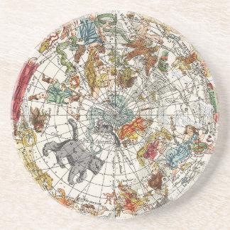 Vintage Astronomy, Celestial Planisphere Map Coasters